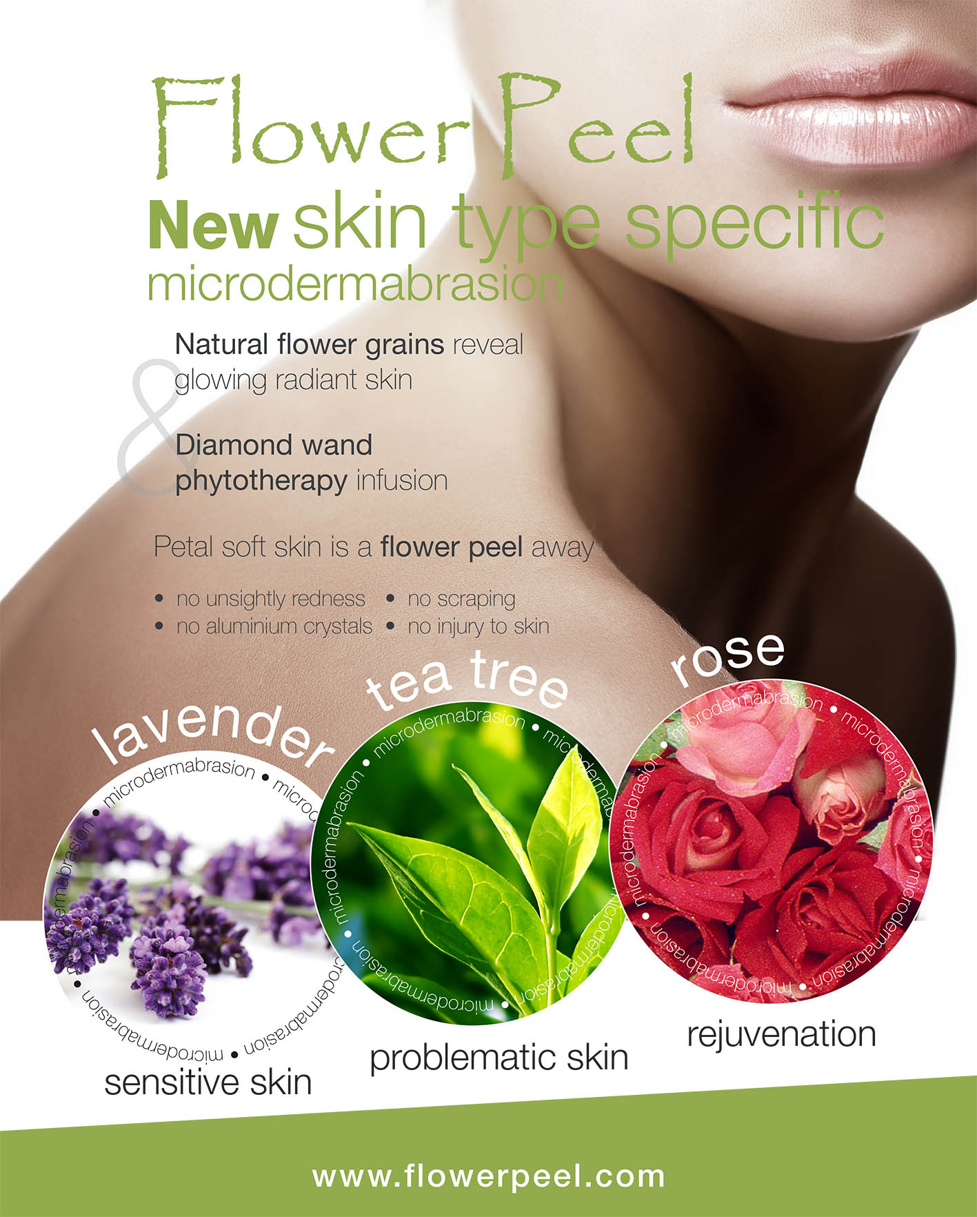 Diamond Flower Peel Advert